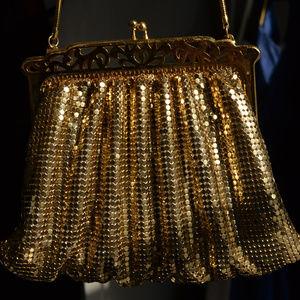 Vintage Whiting Davis Gold Mesh Purse GLAM bag